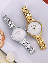 cheap -Women's Quartz Watches Fashion Black Rose Gold Alloy Chinese Quartz Rose Gold Golden+Black Golden+White Casual Watch 30 m Analog One Year Battery Life