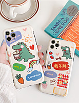 cheap -Case For Apple iPhone 11 Pro Max / iPhone XR Shockproof / Dustproof / IMD Back Cover Food / Animal / 3D Cartoon TPU