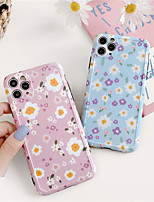 cheap -Art Floral Daisy Phone Case For iPhone 11 Pro max X XR XS Max se 2020 7 8 7Plus Fashion Daisy Flower Case Soft TPU Back Cases Cover