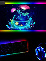 cheap -250*350*4mm Gaming Mouse Pad Luminous Mouse Pad PVC Leather Cloth Dest Mat