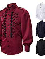 cheap -Prince Vintage Medieval Renaissance Blouse / Shirt Masquerade Men's Costume White / Black / Red Vintage Cosplay Event / Party Long Sleeve