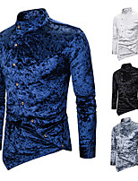 cheap -Plague Doctor Vintage Gothic Steampunk Blouse / Shirt Masquerade Men's Jacquard Costume White / Black / Navy Blue Vintage Cosplay Event / Party Long Sleeve