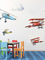 cheap -Planes Wall Stickers Plane Wall Stickers Decorative Wall Stickers PVC Home Decoration Wall Decal Wall Window Decoration 1pc