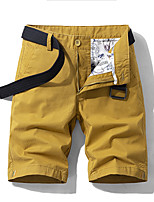 "cheap -Men's Hiking Shorts Hiking Cargo Shorts Summer Outdoor 10"" Breathable Quick Dry Sweat-wicking Multi-Pocket Cotton Shorts Bottoms Dark Grey Jacinth +Gray Army Green Khaki Camping / Hiking Hunting"