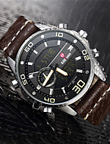 cheap -Men's Sport Watch Quartz Modern Style Stylish Leather Water Resistant / Waterproof Calendar / date / day Day Date Analog - Digital Casual Outdoor - Black Blue Red / Stainless Steel