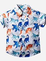 cheap -Kids Toddler Boys' Street chic Animal Short Sleeve Shirt White