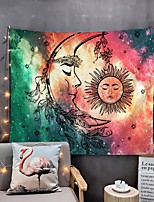 cheap -Home Living Tapestry Wall Hanging Tapestries Wall Blanket Wall Art Wall Decor God Sun And Moon Tapestry Wall Decor