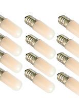 cheap -12pcs 1.5 W LED Globe Bulbs 90 lm E14 E12 T10 2 LED Beads Warm White White 180-265 V