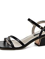 cheap -Women's Sandals Summer Pumps Open Toe Daily PU Black / Beige