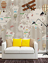 cheap -Custom Self-adhesive Mural Wallpaper Children Cartoon Map Suitable for Background Wall Coffee Shop Hotel Wall Decoration Art  Home Decoration