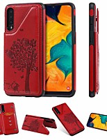 cheap -Case For Samsung Galaxy Samsung Galaxy A50 / Samsung Galaxy A50s / Samsung Galaxy A30s Card Holder / with Stand Back Cover Cat / Tree PU Leather