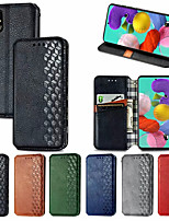 cheap -Case For Samsung Galaxy Galaxy A91 / M80S / Galaxy A81 / M60S / Galaxy A11 Card Holder / with Stand / Flip Full Body Cases Solid Colored PU Leather / TPU
