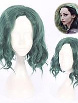 cheap -Cosplay Wig The Gifted Curly Cosplay Asymmetrical Wig Short Green Synthetic Hair 12 inch Women's Anime Cosplay Exquisite Green