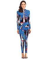 cheap -Zentai Suits Catsuit Skin Suit Ninja Adults' Cosplay Costumes Ultra Sexy Men's Women's Printing Halloween Carnival Masquerade / Leotard / Onesie