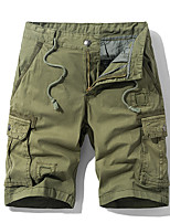 """cheap -Men's Hiking Shorts Hiking Cargo Shorts Summer Outdoor 10"""" Standard Fit Breathable Quick Dry Sweat-wicking Multi-Pocket Cotton Shorts Bottoms Black Army Green Blue Khaki Camping / Hiking Hunting"""