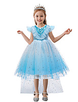 cheap -Princess Frozen Dress Flower Girl Dress Girls' Movie Cosplay A-Line Slip Euramerican Blue Dress Halloween Children's Day