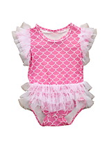 cheap -Baby Girls' Basic Plaid Sleeveless Romper Blushing Pink