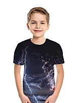 cheap -Kids Boys' Street chic 3D Short Sleeve Tee Gray