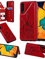 cheap -Case For Samsung Galaxy Samsung Galaxy A50 / Samsung Galaxy A50s / Samsung Galaxy A30s Card Holder / with Stand Back Cover Skull PU Leather