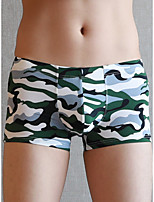 cheap -Men's Print Boxers Underwear - Normal Low Waist White Black Army Green M L XL