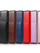 cheap -Case For Huawei Huawei P30 / Huawei P30 Pro / Huawei P30 Lite Card Holder / Shockproof Back Cover Solid Colored PU Leather / TPU