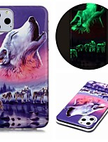 cheap -Case For Apple iPhone 11 / iPhone 11 Pro / iPhone 11 Pro Max Glow in the Dark / Pattern Back Cover Animal TPU