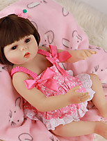 cheap -FeelWind 18 inch Reborn Doll Baby & Toddler Toy Reborn Toddler Doll Baby Girl Gift Cute Lovely Parent-Child Interaction Tipped and Sealed Nails Full Body Silicone LV018 with Clothes and Accessories