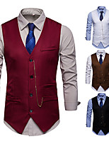cheap -Gentleman Kingsman Vintage Masquerade Vest Waistcoat Men's Slim Fit Costume White / Black / Burgundy Vintage Cosplay Event / Party Sleeveless