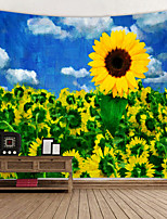 cheap -Sunflower oil Painting Digital Printed Tapestry Decor Wall Art Tablecloths Bedspread Picnic Blanket Beach Throw Tapestries Colorful Bedroom Hall Dorm Living Room Hanging