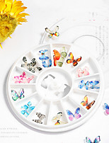 cheap -24 pcs Butterfly Nail Glitter Water Resistant / Multi Function / Creative Acrylic Decals For Finger Nail Butterfly nail art Manicure Pedicure Party / Evening / Daily / Festival Simple / Sweet