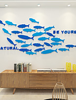 cheap -3D Fish Wall Stickers Plane Wall Stickers Decorative Wall Stickers Acrylic