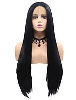 cheap -Synthetic Lace Front Wig Matte Layered Haircut Lace Front Wig Medium Length Black#1B Synthetic Hair 22-26 inch Women's Party Classic Women Black Sylvia