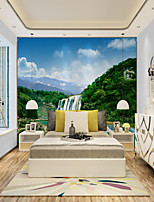 cheap -Art Deco Customized Self Adhesive Mural Landscape Waterfall Suitable for Background Wall Coffee Shop Hotel Wall Decoration Art