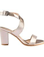 cheap -Women's Sandals Summer Pumps Open Toe Daily PU Champagne / Silver