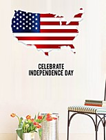 cheap -American Independence Day Wall Sticker Self-adhesive Home Wall Decoration PVC Sticker