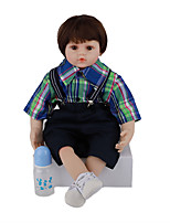 cheap -FeelWind 24 inch Reborn Doll Baby & Toddler Toy Reborn Toddler Doll Baby Boy Gift Cute Lovely Parent-Child Interaction Tipped and Sealed Nails 3/4 Silicone Limbs and Cotton Filled Body LV083 with