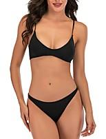 cheap -Women's Triangle Cheeky Bikini Tankini Swimwear Swimsuit - Floral Print S M L Black Dark Gray Rainbow