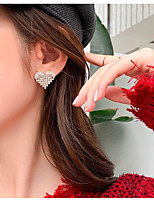 cheap -Women's Earrings Classic Heart Love Classic Vintage Earrings Jewelry Silver For Gift Daily 1 Pair