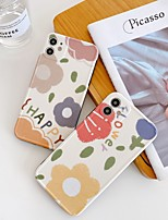 cheap -Case For Apple Shockproof / Pattern Full Body Cases Flower TPU