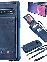 cheap -Case For Samsung Galaxy Galaxy S10 / Galaxy S10 Plus / Galaxy S10 E Wallet / Card Holder Back Cover Solid Colored PU Leather for Samsung S20 / S20 Plus / S20 Ultra