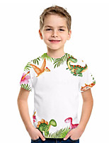 cheap -Kids Boys' Basic Fantastic Beasts Animal Print Short Sleeve Tee White