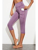 cheap -Women's Sports / Yoga Sporty / Basic Legging - Solid Colored, Sporty / Stripe High Waist Black Purple S M L