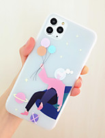 cheap -New Phone Case For Apple iPhone 11 iPhone 11 Pro  iPhone 11 Pro Max Dustproof  Frosted  Pattern Back Cover sky  Sexy Lady Lovely Girl 3D Cartoon TPU iPhone 7 iPhone 8 iPhone X