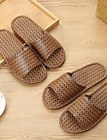 cheap -Women's Slippers & Flip-Flops Summer Flat Heel Peep Toe Daily Mesh Brown / Coffee