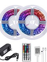 Недорогие -Mashang 32,8 фута 10 м светодиодные полосы света RGB TIKTOCK огни 600 светодиодов гибкое изменение цвета SMD 2835 с 44 клавишами ИК-пульт дистанционного управления и адаптер 100-240 В для домашней