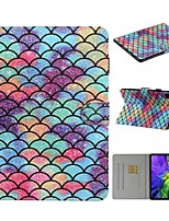 cheap -Case For Apple iPad 10.2 iPad Pro 11 2020 iPad Air 10.5 2019 Card Holder with Stand Pattern Full Body Cases Geometric Pattern PU Leather iPad Mini 12345 2017 2018 Pro 9.7