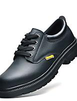 cheap -Men's Fall / Winter Sporty Athletic Outdoor Oxfords Walking Shoes PU Shock Absorbing Wear Proof Black