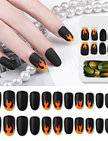 cheap -24pcs Plastics Ergonomic Design Durable Trendy Rock Halloween Daily Artificial Nail Tips for Finger Nail / Totem Series