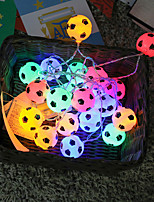 cheap -String Lights 40 LEDs Soccer Football Accessories Atmosphere For Bar Decoration Party Club Fans Supplies World Cup