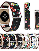 cheap -Floral Flower Bands For Apple watch Series 5 4 3 2 1 38/40mm 42/44mm Silicone Pattern Printed Strap for iWatch Series